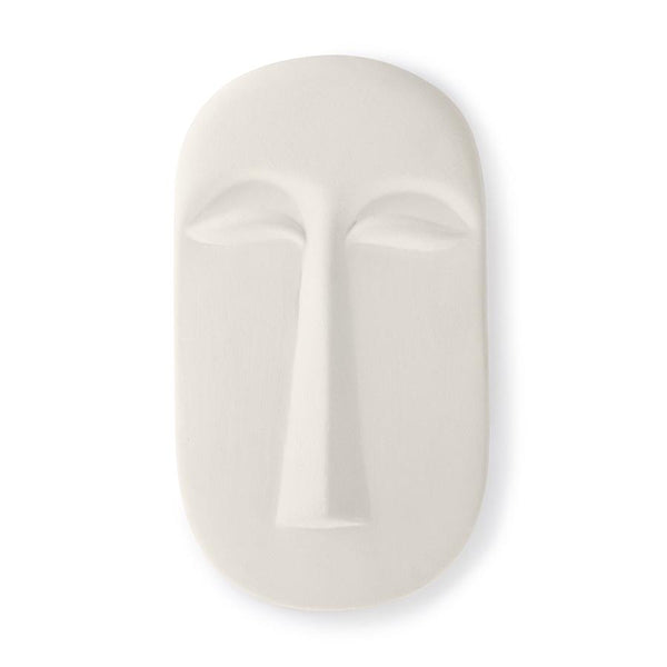 Wall ornament mask matt white