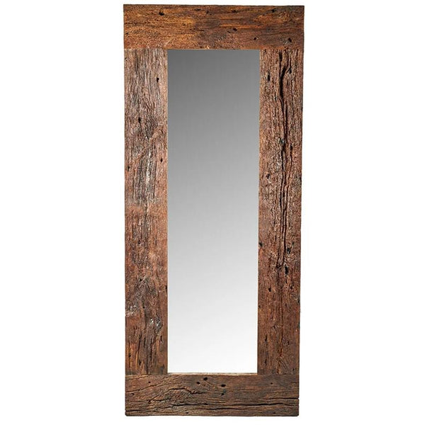Old Oak Wood Mirror 89x206