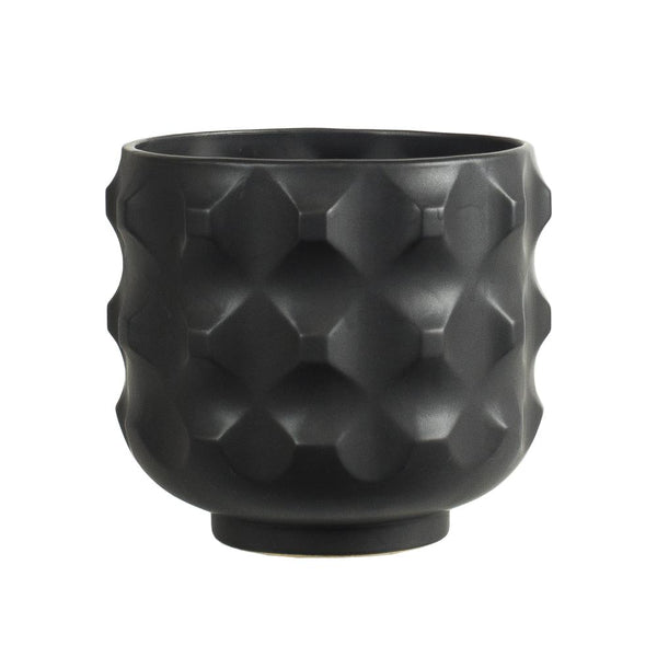Black ceramic Miso Pot
