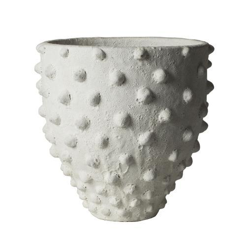 White Ceramic Pot with Dots