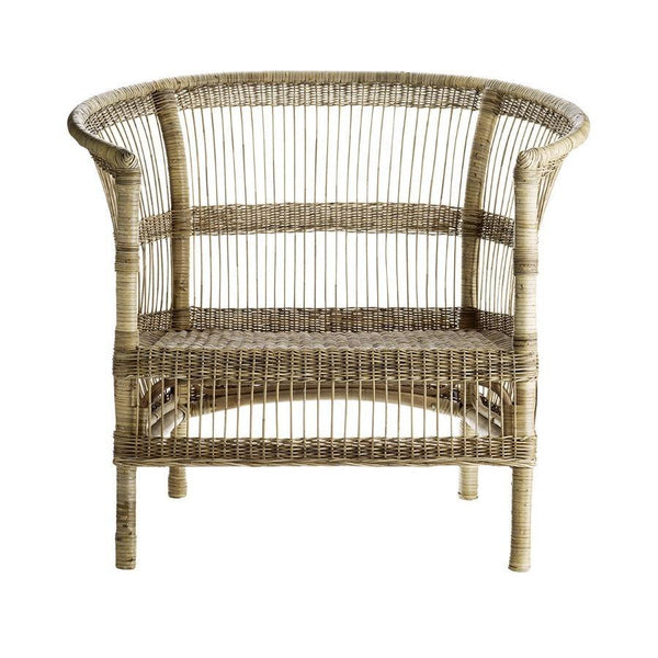 Lounge Chair in Rattan