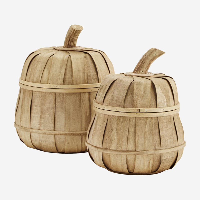 rattan braided basket with lid pumpkin natural look unique shape storage warm color decorative shape korv kõrvitsa kujuga kaanega naturaalne välimus