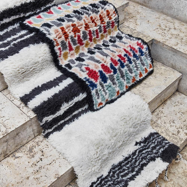 Striped Wool Rug 60x250