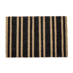 doormat black coir uksematt vaip must kookos coconut rug carpet entrance vaip stripes triibuline