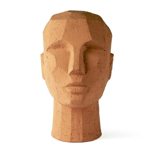 Sculpture head terracotta