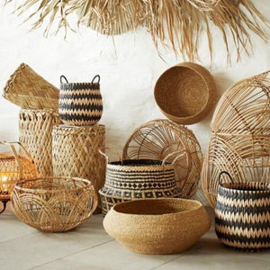 basket bowl seagrass natural decorative storage magazines fruits korv kauss meriheinast naturaalne dekoratiivne