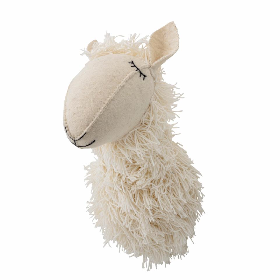 wall decor white wool sheep sweet for kids seinale kaunistus dekoratsioon lastele lammas valge vill armas unelammas