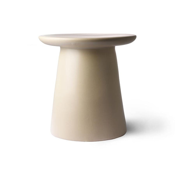 Cream metal side table D40