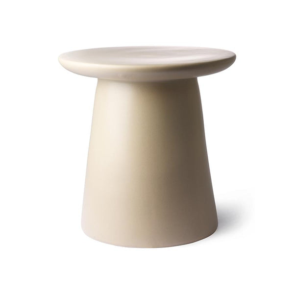 cream metal coffee side table D 40 cm kohvilaud metall kreem minimalistic