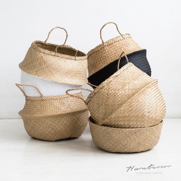 Natural Seagrass basket L