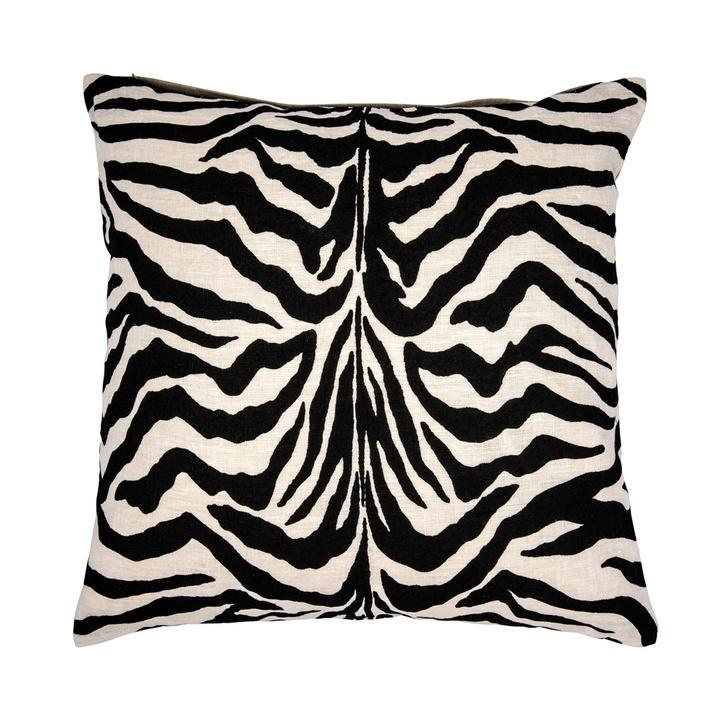cushion pillow linen cotton zebra with feathers decorative soft stylish padi sebra animal pattern linane puuvill dekoratiivne looma muster