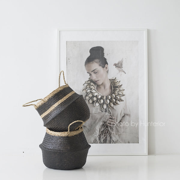 Black Seagrass Basket S