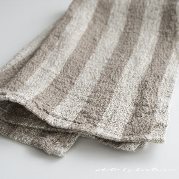 Linen Kitchen Towel Stripes