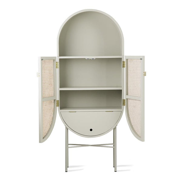 Retro Oval Cabinet grey