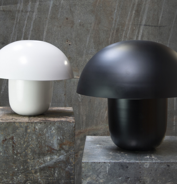 table lamp carl black laualamp must seenekujuline mushroom matt stiilne moderne