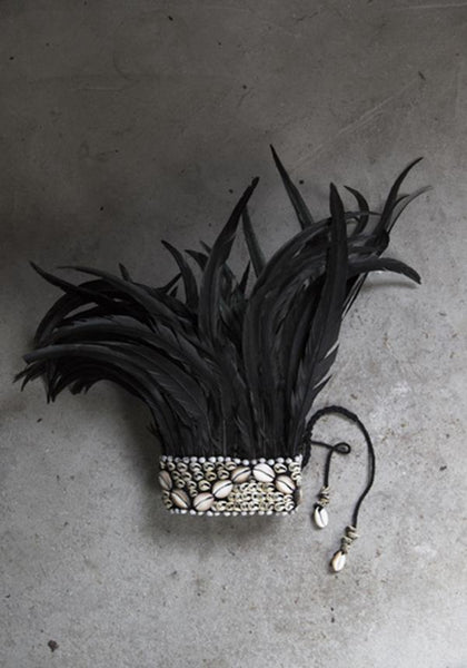 Feather crown black M