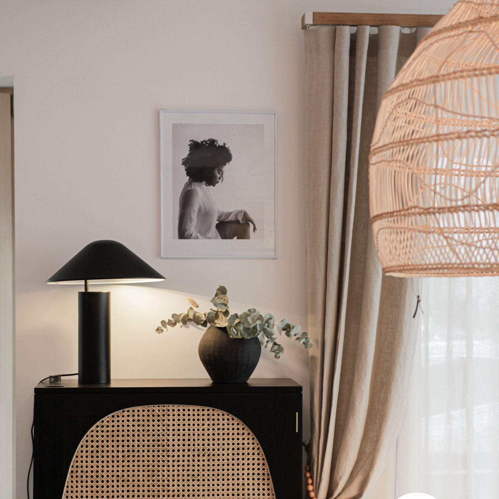 table lamp mads black matt laualamp matt must suunatav movable modern stiilne