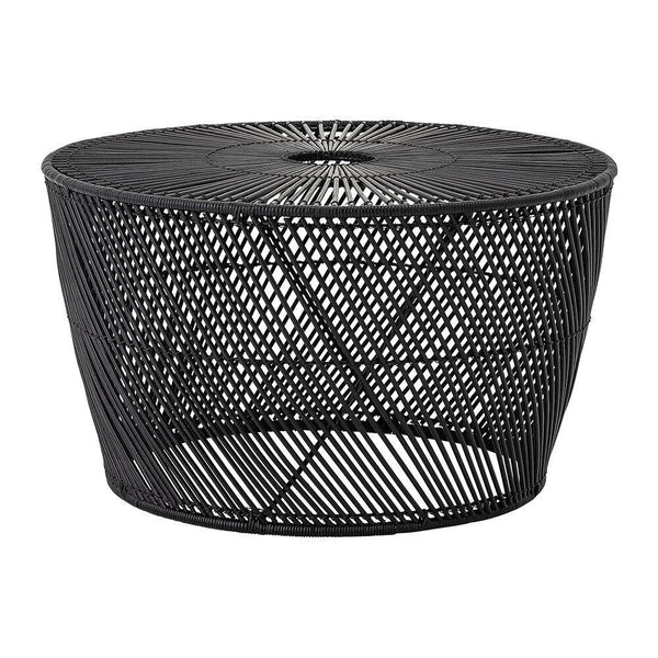 Ditte Coffee Table black rattan