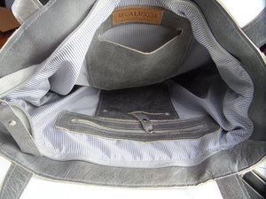 Leather Bag Grey