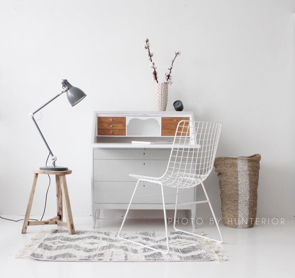 Metal Wire Chair White