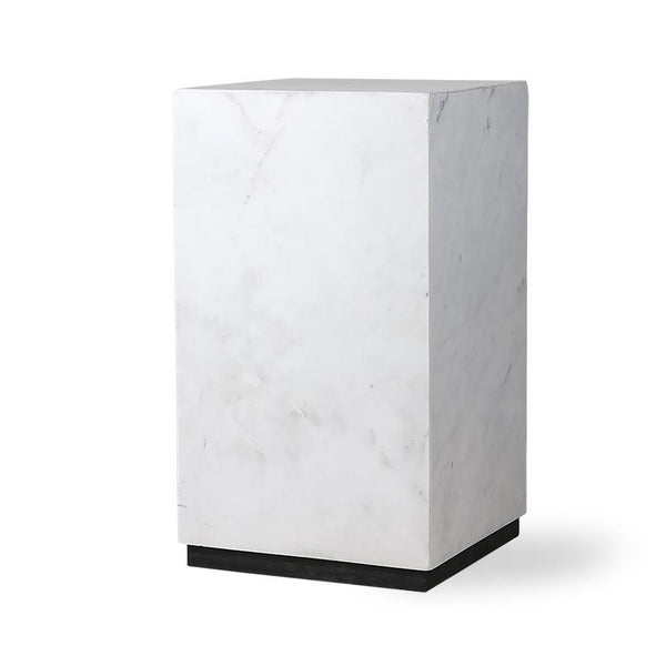 Block table white marble S
