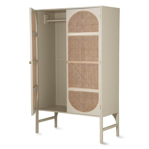 Retro Webbing Clothing Cabinet grey/green