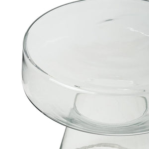 glass side coffee table transparent round simple kohvilaud ümmargune klaasist läbipaistev simple