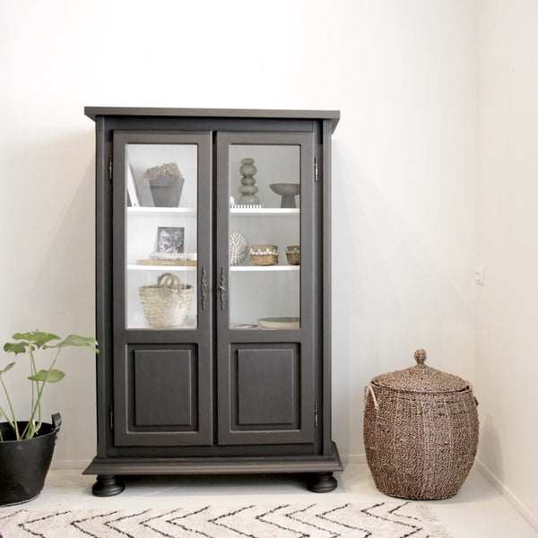 Glass Cabinet Black - BRON.