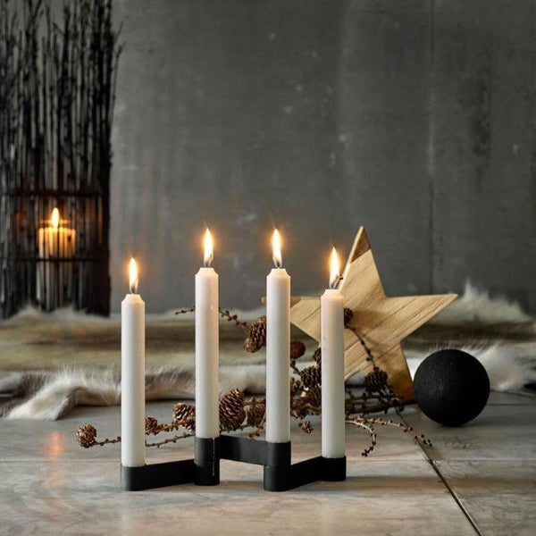 candle stick set black iron decorative changeable modern küünlajalg küünla alus dekoratiivnematt must