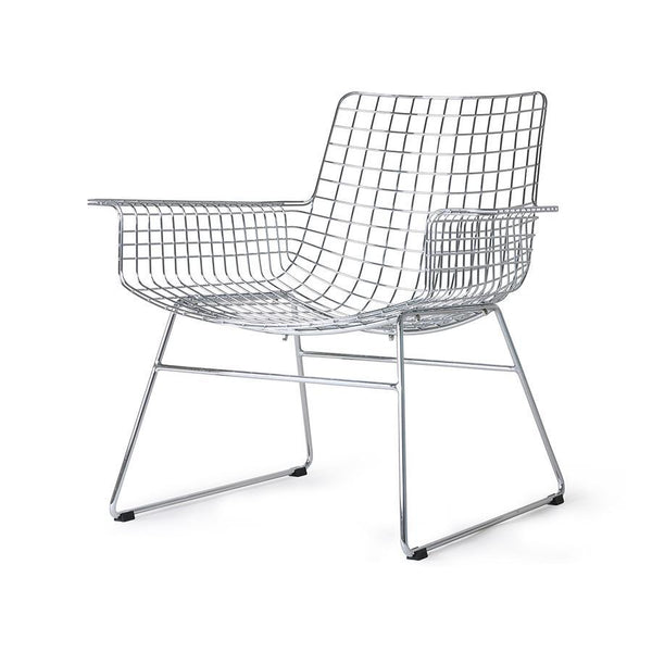 Metal Wire Lounge Chair silver