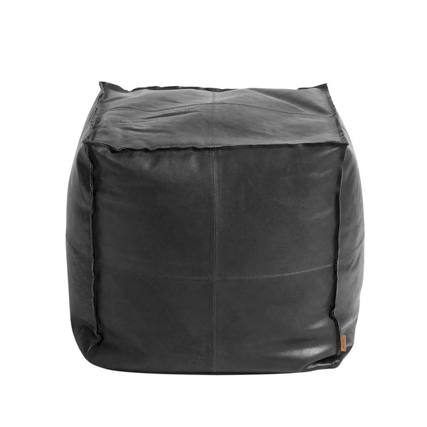 Leather pouf Square
