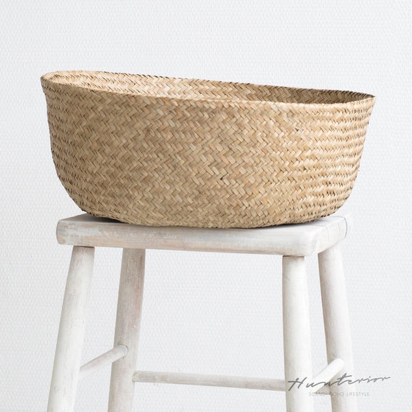 Hunterior Seagrass Basket Natural