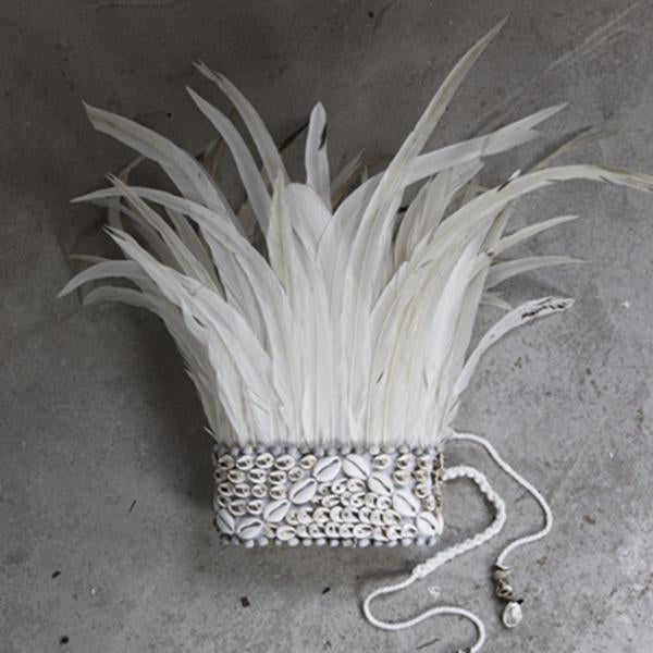 Feather Crown M - white