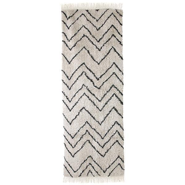 Cotton ZigZag Runner 75x220