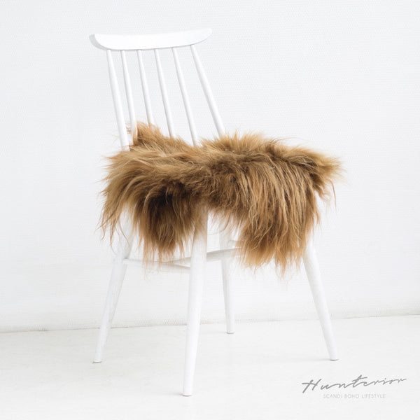 Red Icelandic Sheepskin Chair Cover