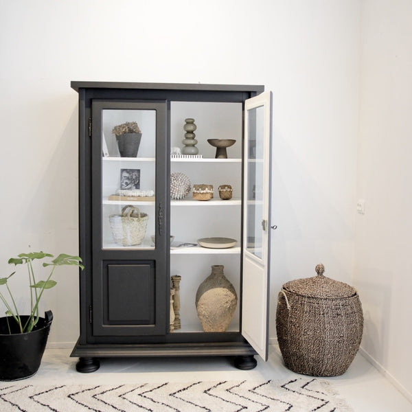 Glass Cabinet Black