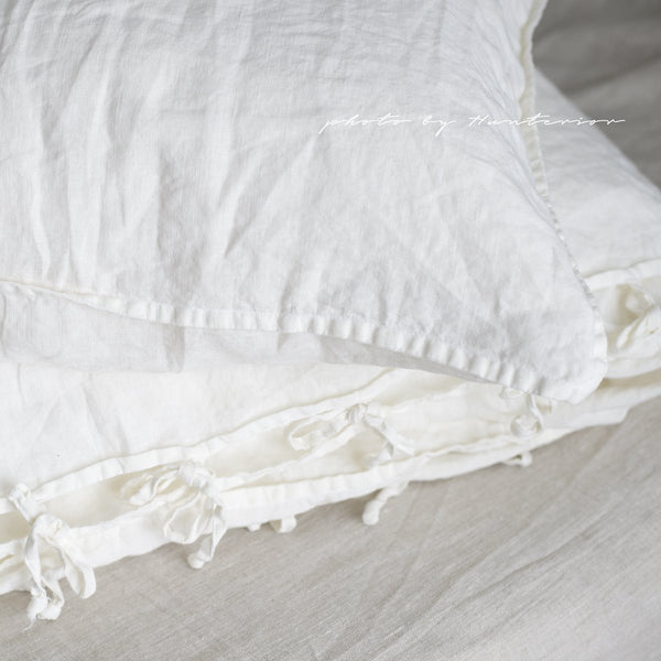 Linen Bedding Set, White