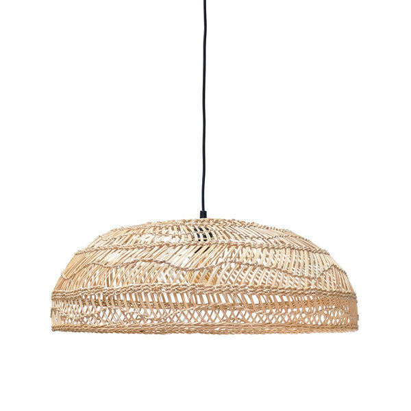 Wicker Hanging Lamp Flat Natural
