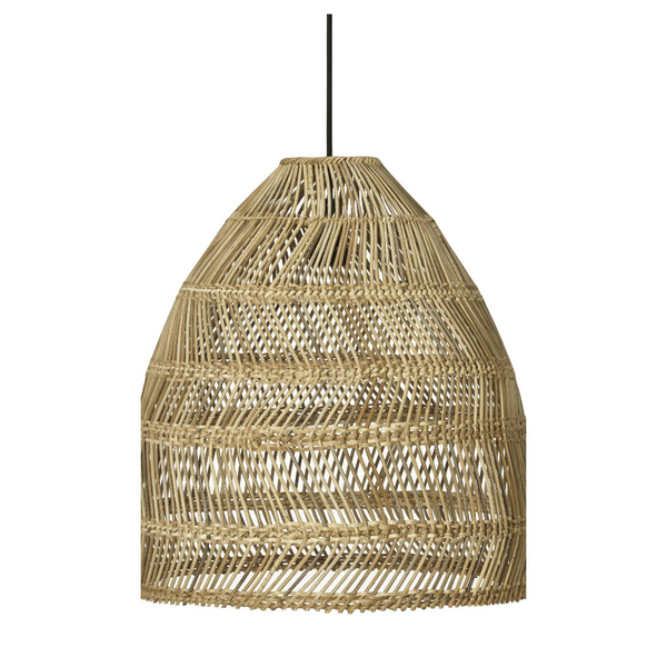Wicker Lamp Natural tall