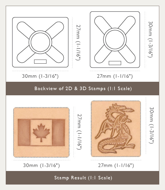 2D & 3D Stamp Sizing