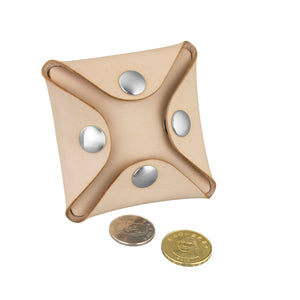 Nick Square Coin Case Kit, Natural