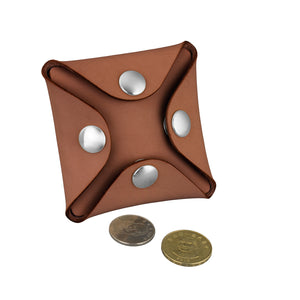 Nick Square Coin Case Kit, Brown