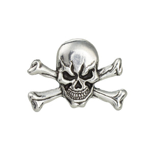 "Skull Cross Bone Concho, 30mm (1-3/16""), AN"