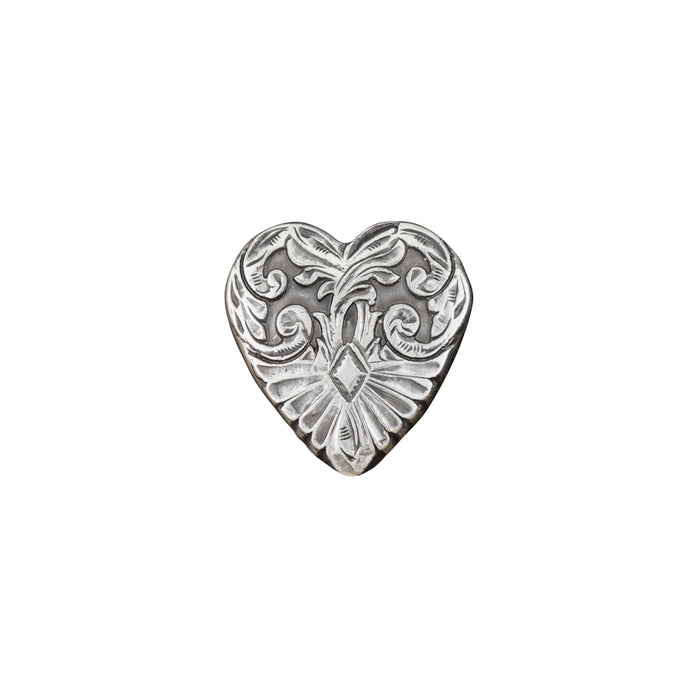 "Heart Concho, 28mm (1-1/8""), AS"
