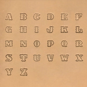 "13mm (1/2"") Uppercase Alphabet Stamp Set"