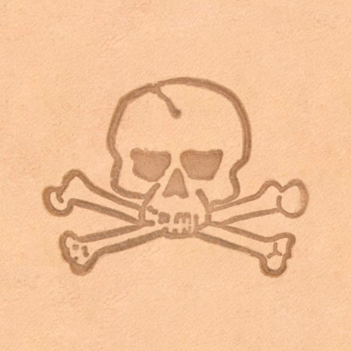 Motorcycle & Punk Stamp - Skull & Crossbones
