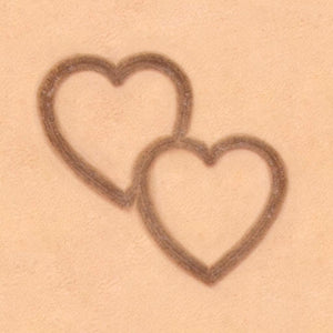 Double Heart 2D Stamp