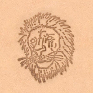 African Animal Stamp - Lion Head