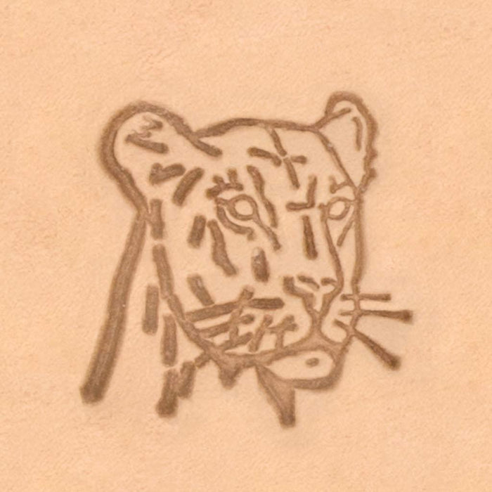 African Animal Stamp - Lioness Head