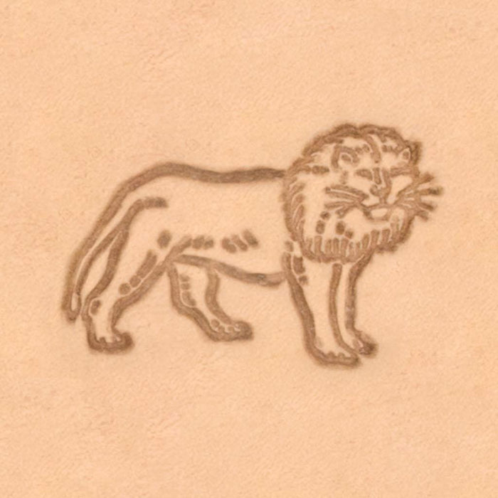 African Animal Stamp - Standing Lion